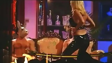 Jill Kelly Latex Pants FMM Sex