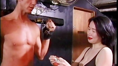 Sexy Asian dominas make two studsaИЩ wildest fantasies come true