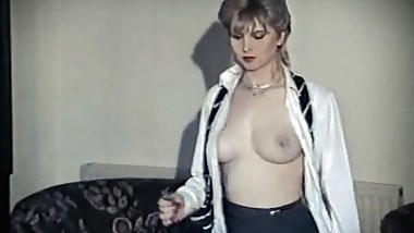 HOT GROOVE - vintage British schoolgirl strip dance