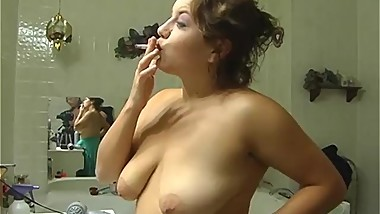 SMOKING ALHANA - Morning Topless Make Up Smoke - RottenStar Vintage