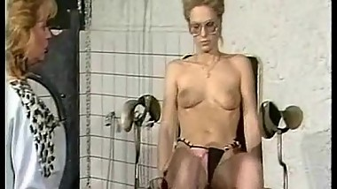 Vintage video of slave geting her tits coverd in hot candlewax while another slave gets