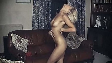 VOGUE - slim British beauty strip dance tease