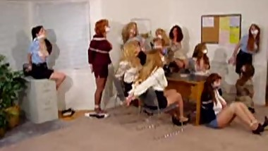 Eleven secretaries left tied & gagged