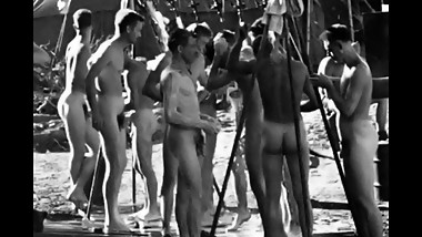 COLLECTION OF SPYCAM CLIPS OF WWII SOLDIERS ~ SHOWERS, EXAMS, ETC -(A©A?A©)-