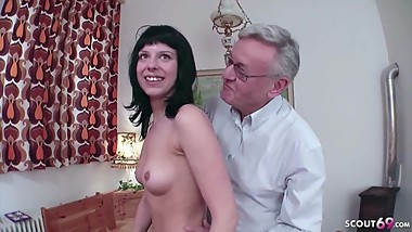 18yr old German Teen Seduce to Fuck by 71yr old Grand Father