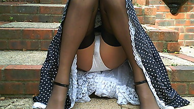 Retro 1950's Dress And Stockings