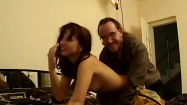 Fingered amateur babe lets oldman jerk off