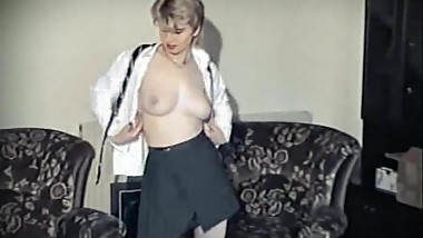 MYSTIFY - vintage British schoolgirl uniform strip dance