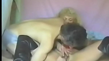 Handsome vintage chick is eager to ride a dick like crazy