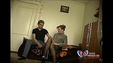 Slut Stepmom makes her 19 years old son loses his virginity