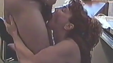 Slut Dorothy sucks guys balls while he jacks off on her face