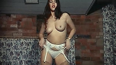 LOVE ME, TOUCH ME - English stockings babe striptease dance
