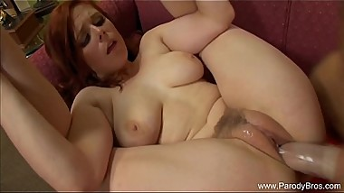 Redhead MILF Sex On Her Couch