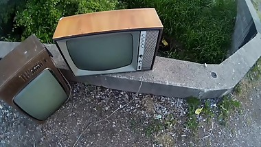 Pissing on the Vintage TVs