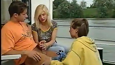 Vintage Euro Hot Teen Threesome