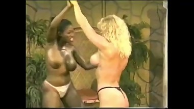 Ebony Ayes vs Delta Force Queens nude fight