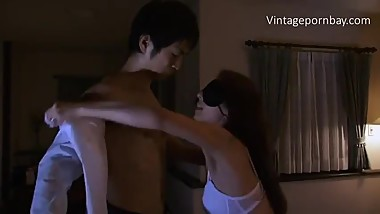 Blind Japanese Stepmom Doesnt know she is fucking by her son
