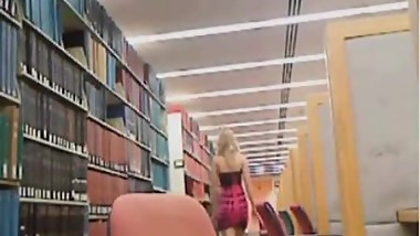 Ginger Banks Vintage Library Dildo Cumshow