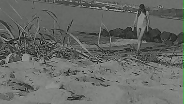 Huge vintage cock at a German nude beach