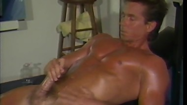 Peter North 80's Workout & Self Facial