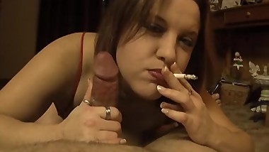 POV Smoking Blowjob Cork Colored Cigarette Filter - ALHANA WINTER - Vintage