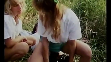 2 Schoolgirls Fuck A Guy Outdoors