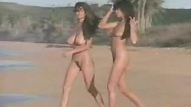 Sexy girls with Big boobs naked on beach