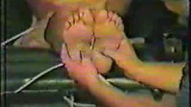 Vintage: Mom teaches son's teen friend how to tickle her sexy feet