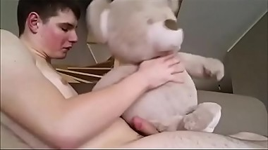 A Guy And His Teddy Bear