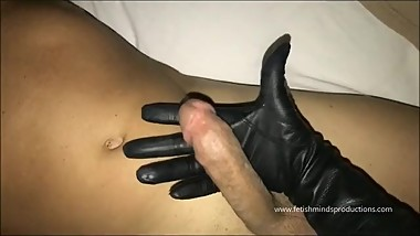 intimate warm caress of vintage unlined soft leather gloved hand