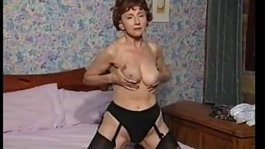 Classic Vintage Granny In Stockings - Rrreaperrr