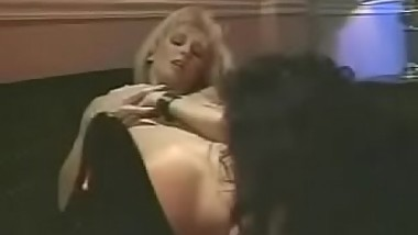 Tall blonde Melanie Moore has her pussy ravaged by Alicia Rio.