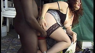 Interracial four way sex for hot milf Jessica Rizzo!