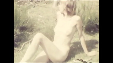 Vintage - Naked Girl Outdoors 1960's